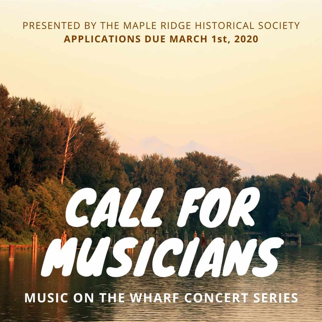 Poster - Call for musicians, Music on the Wharf series