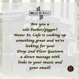 Call for Busker/musician – Gastown